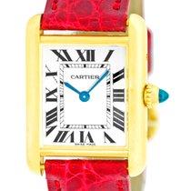 "Cartier ""Tank Louis"" Strapwatch."