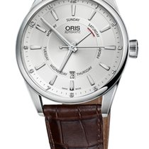 Oris Artix Pointer Day, Date Brown Leather Bracelet