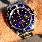 Rolex Submariner Date Or/acier cadran bleu Ref 16613 (série W)