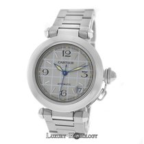 Cartier Midsize Unisex 35MM  Pasha 2324 Stainless Steel Date...