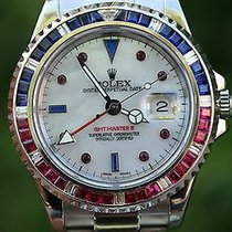 Rolex Vintage Gmt Master Steel 40mm Pepsi 16750 Diamond...