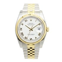 Rolex Datejust Gold And Steel White Automatic 116233WTRN