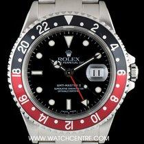 Rolex S/S O/P Black Dial Black & Red Coke Bezel GMT Master...