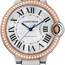 Cartier Ballon Bleu Stahl Roségold Diamond Automatik