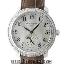 Patek Philippe Complications Ladies Moonphase 18k White Gold...