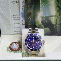 Rolex Submariner 16613 Blue 18K Yellow Gold & Stainless Steel