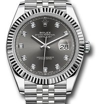 Rolex Datejust Dark Rhodium Diamond Dial  126334 dkrdj