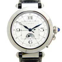 Cartier Pasha De Cartier Stainless Steel Silvery White...