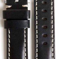 Everest Lederband schwarz 20mm  EH3BLKW