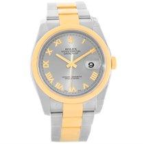 Rolex Datejust Steel 18k Yellow Gold Watch 116203 Unworn