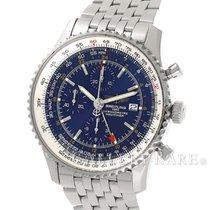 브라이틀링 (Breitling) Navitimer World Time Chronograph Petrol Blue...