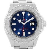Rolex Yachtmaster Steel Platinum Blue Dial Automatic Mens...