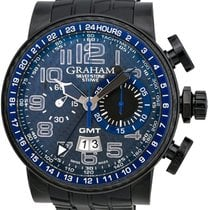 Graham Silverstone Stowe GMT Chronograph Automatic Men's Watch...