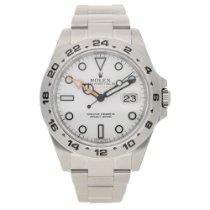 Rolex Explorer II 216570 - Gents Watch - Unworn 2016 - White Dial