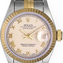 Rolex Ladies 2-Tone Datejust Watch 6917 Ivory Colored Dial