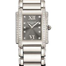 Patek Philippe 4910/20G-010 Twenty-4 with 2-Row Diamond Bezel...