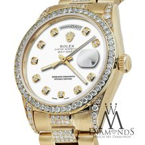 Rolex Presidential 18k Yellow Gold Day Date White Dial W/...
