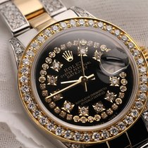Rolex Ladies 26mm Rolex Oyster Perpetual Datejust Custom Black...