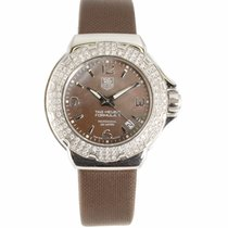 TAG Heuer Ladies Formula 1 Brown Mother of Pearl and Diamond...