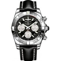Breitling AB014012-BA52-BLKLT Chronomat 41 Mens Automatic in...