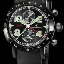 Chronoswiss Timemaster Chronograph GMT DCL Steel Black/Green...