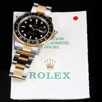 Rolex 16713 Steel & Gold GMT Master II, Black Dial w/ Box...