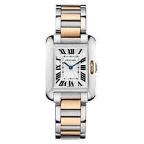 Cartier Tank Anglaise Stainless Steel and Pink Gold