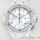 Hublot Big Bang 41mm Weisse Keramik Stahl Diamanten Keramik