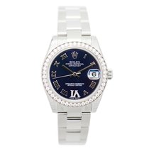 勞力士 (Rolex) Lady Datejust 18k White Gold Diamond Steel Purple...
