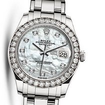 Rolex 86289 Pearlmaster White MOP Diam Dial Diam Bezel WG