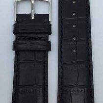 Kaufmann Krokodil Grain Classic Lederband schwarz 20/18mm 449 50