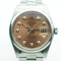 Rolex Oyster Perpetual Date Salmon Pink Diamonds Dial Oyster Band