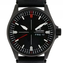 Damasko DA34 Black Stahl Automatik Lederband 42mm