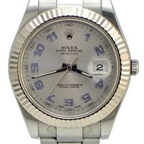 Rolex DateJust ii / Silver Dial / fluted Bezel and Papers,