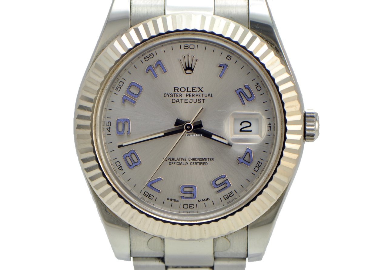 xxl fluted on and ii sale bezel papers seller a silver datejust trusted from htm for dial rolex watches