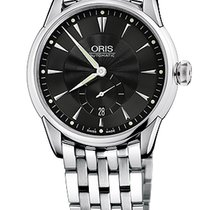 Oris Artelier Small Second, Date Black Dial Steel Bracelet