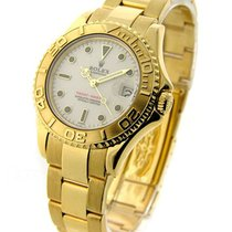 Rolex Used 16862_used_white Yachtmaster Mid Size Yellow Gold...