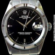 Rolex 1501 Oyster Date Black Gilt Gloss Dial Steel