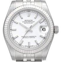 Rolex Oyster Datejust 31 mm Ref. 178274 Jubile-Band Weiß Index