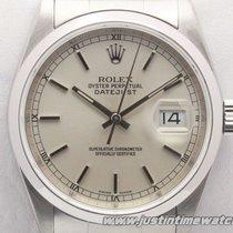 Rolex Oyster DateJust 16200 quadrante argento full set