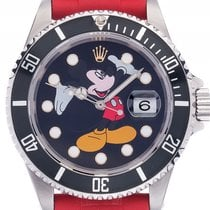 ロレックス (Rolex) Submariner Date Custom Mickey Mouse Stahl...