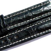 Breitling Band 15mm Croco Black Negra Strap Ib001