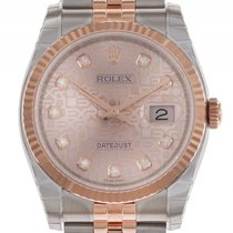 Rolex Datejust Stahl Roségold Everose Diamond Jubilé Armband...
