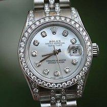 Rolex 26mm Datejust 179160 Jubilee Diamond Band 4 18k White...