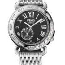 Fendi Selleria Black Dial Ladies Stainless Steel Watch