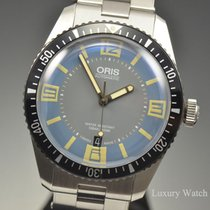 Oris Divers Sixty Five Light Blue Stainless Steel Watch