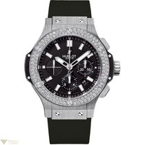 Hublot Big Bang Steel Diamonds Rubber Men`s Watch