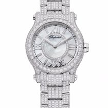 Chopard Happy Sport 18K White Gold & Diamonds Ladies Watch