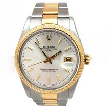 Rolex Pre-owned 34mm Rolex  Two-tone  Date VINTAGE Watch  #15053