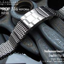 Strapcode 18mm Milanese Mesh Band, Polished (05)
